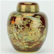 Sale 8314 - Lot 20 - Carlton Ware Rouge Royale New Mikado Lidded Ginger Jar
