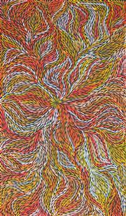 Sale 8316 - Lot 530 - Jeannie Petyarre (c1956 - ) - Bush Yam Leaves 168 x 96cm