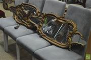 Sale 8310 - Lot 1622 - Pair of Ornate Gilt Framed Mirrors (some damage)