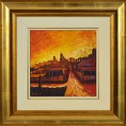 Sale 8323A - Lot 52 - Geoff De Main (1953 - ) - Laneway to the Mine, 1997 28.5 x 28.5cm