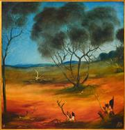 Sale 8358 - Lot 564 - Kevin Charles (Pro) Hart (1928 - 2006) - Landscape, 1976 90 x 90cm
