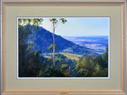 Sale 8401 - Lot 524 - John Downton (1939 - ) - Mountain Morning, Shoalhaven, NSW, 1992 49.5 x 74.5cm