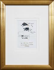 Sale 8427 - Lot 514 - John Olsen (1928 - ) - Ex Libr, 2000 18.5 x 13cm