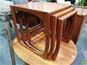 Sale 8607 - Lot 1088 - 1960s Sumelm English Teak Nest of Tables