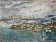 Sale 8565 - Lot 546 - George Feather Lawrence (1901 - 1981) - Clouds over the City, 1978 40 x 52cm