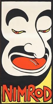 Sale 8565 - Lot 547 - Martin Sharp (1942 - 2013) - MO (Nimrod) 89.5 x 45.5cm