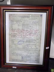 Sale 8557 - Lot 2078 - Titanic Registration Print