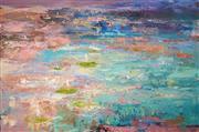 Sale 8597 - Lot 520 - Cheryl Cusick - Lily Pond 100 x 150cm