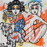 Sale 8880A - Lot 5071 - Yosi Messiah (1964 - ) - My Baby Dog 85 x 85 cm