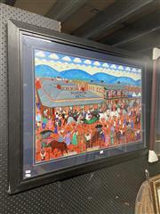 Sale 8932 - Lot 2060 - Bernard Jeffrey Decorative Print, 84 x 115cm (frame)