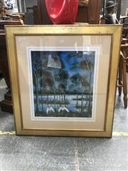 Sale 9072 - Lot 2083 - A Pro Hart signed decorative print, ed. 767/2000, frame: 89 x 81 cm