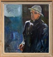 Sale 8297 - Lot 600 - Erik Johan Jerken (1898 - 1947) - Self Portrait, 1941 89 x 81cm