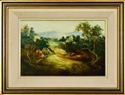 Sale 8323A - Lot 53 - Norman Robins (1914 - 1988) - Untitled (Landscape) 29.5 x 45cm