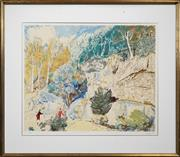 Sale 8427 - Lot 519 - Lloyd Rees (1895 - 1988) - Edge of the Forest 64 x 74.5cm