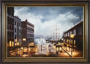Sale 8459 - Lot 566 - Ian Hansen (1948 - ) - Circular Quay, Phillip Street, 1979 60 x 90cm