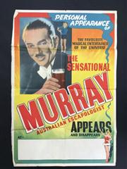 Sale 8539M - Lot 5 - The Sensational Murray - Australian Escapologist: The Favourite Magical Entertainer of the Universe. Original poster by Perfecta...