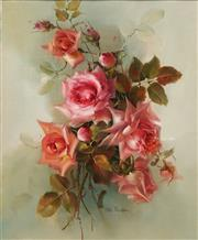 Sale 8665A - Lot 5008 - Jill Kirstein (1939 - ) - Cartland Roses 48 x 39cm
