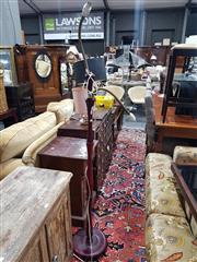 Sale 8826 - Lot 1091 - Turned Timber Standard Lamp