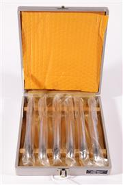 Sale 9015 - Lot 11 - Boxed Set of Six Vintage Japan Sword stainless steel knives (L: 20cm)