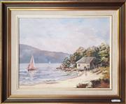 Sale 9019 - Lot 2091 - Laurette Swanson Summer by the Lake oil, 48 x 58cm m, signed -
