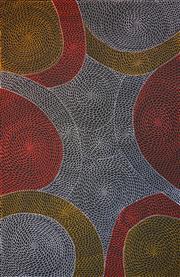 Sale 8321 - Lot 580 - Mary Rumble Pitjara (1957 - ) - Kangaroo Dreaming 200 x 130cm
