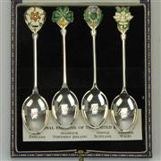 Sale 8399 - Lot 30 - English Hallmarked Sterling Silver Elizabeth II Boxed Teaspoons