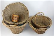 Sale 8417 - Lot 34 - Cane & Wicker Woven Baskets