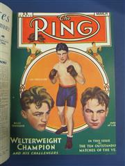 Sale 8419A - Lot 24 - The Ring 1932 - an original bound set of The Ring from February 1932 to January 1933, with great covers