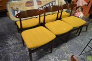 Sale 8550 - Lot 1093 - Good Set of Six Koford Larson G-Plan Teak Dining Chairs