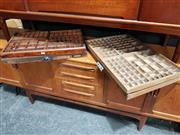 Sale 8705 - Lot 1069 - Collection of 4 Vintage Printers Drawers