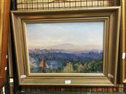 Sale 8720 - Lot 2071 - Douglas Alexander - Morning Mist 1985 oil on board, 23.5 x 34cm, signed lower right