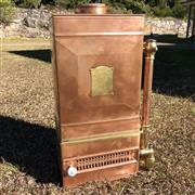 Sale 8795K - Lot 80 - A decorative copper and brass heater