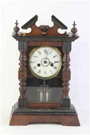 Sale 8802 - Lot 250 - Timber Cased Mantle Clock