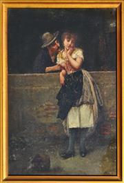 Sale 8821A - Lot 5058 - Salvatore Maresca - Pretty Persuasion, c1880 39 x 26cm