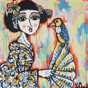 Sale 8880A - Lot 5002 - Yosi Messiah (1964 - ) - Glamorous Parrot 85 x 85 cm
