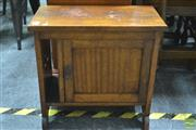 Sale 8289 - Lot 1076 - Oak Telephone Table
