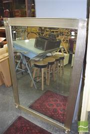 Sale 8390 - Lot 1265 - Silver Framed Bevelled Edge Mirror