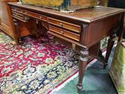 Sale 8570 - Lot 1022 - Mahogany Desk (77 x 150 x 65cm)