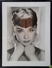 Sale 8600 - Lot 2050 - Audrey Hepburn Photographic Print 103 x 78cm (frame size)