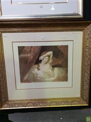 Sale 8645 - Lot 2050 - Claude-Marie Dubufe - Awakening 79.5 x 88cm (frame size)