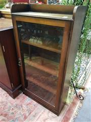 Sale 8657 - Lot 1021 - Glass Front Music Cabinet