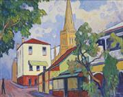 Sale 8708A - Lot 547 - John Rigby (1922 - 2012) - Spring Hill Scene 39.5 x 49.5cm