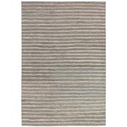 Sale 8880C - Lot 60 - India Rustic Jute/Wool Ribbed Carpet in Steel, 160x230cm, Handspun Jute & Wool