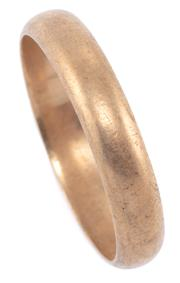 Sale 8954 - Lot 304 - A 9CT GOLD WEDDING RING; 4.4mm wide half round band, size U, wt. 3.78g.