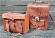Sale 8962 - Lot 1019 - Leather Carry Cases x 2