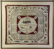 Sale 8994W - Lot 654 - A Framed French Scarf Depicting The French Artillery Squadron Mouchoirs DInstruction Militaire No.5 Some Wear to scarf (87cm x 92cm)