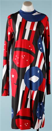 Sale 9090F - Lot 15 - A CHEAP MONDAY DRESS; Stars and stripes flag inspired, size S 100% cotton.