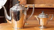 Sale 9060H - Lot 47 - A silver plated coffee pot and milk jug by Imperial, Taller 22cm