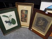 Sale 8429A - Lot 2048 - Rosewood Frame w Etching, Baxter Great Exhibition Print & Another (3)