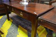 Sale 8520 - Lot 1058 - Early C20th Cedar Desk, Fitted with Three Drawers on Square Tapering Legs